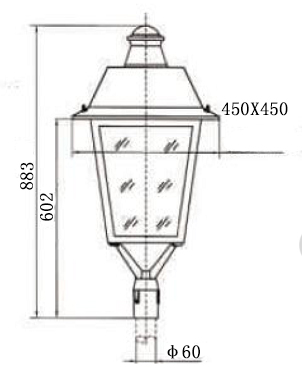 40W LED street light (Lantern)
